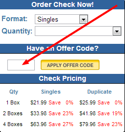 How to Apply your Checks Unlimited Offer Code