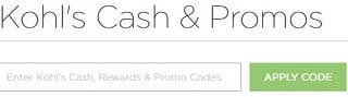 how to apply kohls promo code